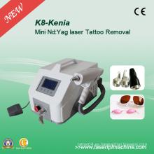 1064nm 532nm 1320nm Lase máquina de eliminación de tatuajes portátil K8