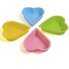Heart Shape Silicone Baking Pan Mold