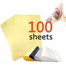 100 folhas de tatuagem térmica de carbono stencil papel de transferência 8.5x11 unidades mestre