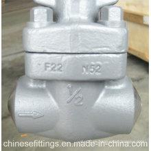 Aleación de acero forjado F22 soldadura Buttweld válvula de compuerta