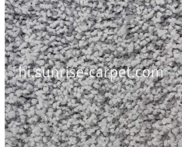 Microfiber Shaggy Rug Grey mix color