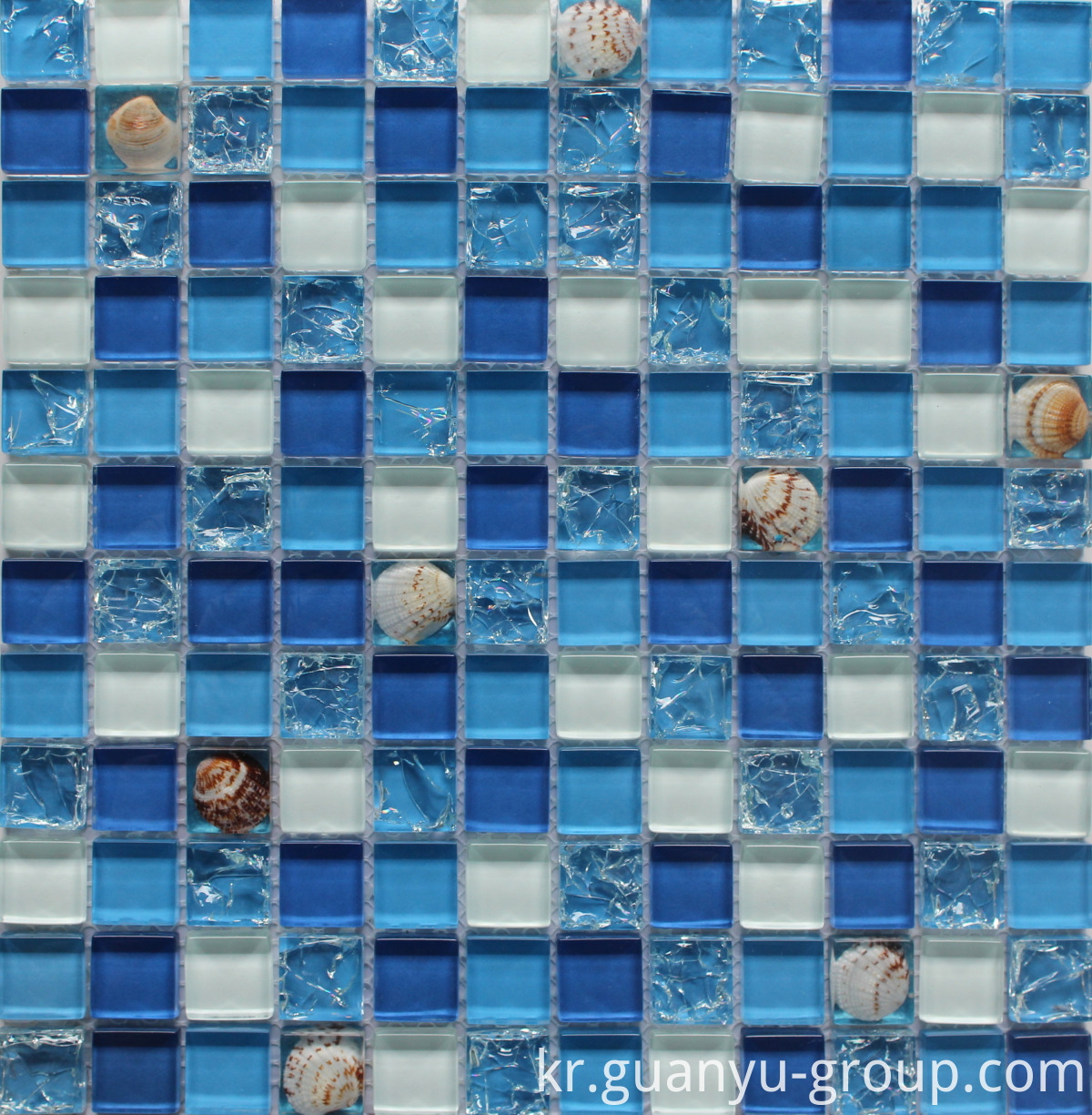 Cracked Glass And Resin Shell Mosaic BL8223
