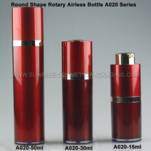15ml 30ml 50ml rot runde Rotary Emulsion Airless Presse Bottl