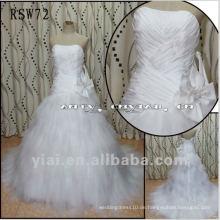 RSW72 Real Wunderschöne Nizza Bogen Unregelmäßigen Layered Tüll Rock Taft Brautkleid