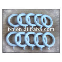 white decorative plastic curtain rings