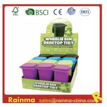 Plastic Desk Trash Bin Pen Holder para presente promocional