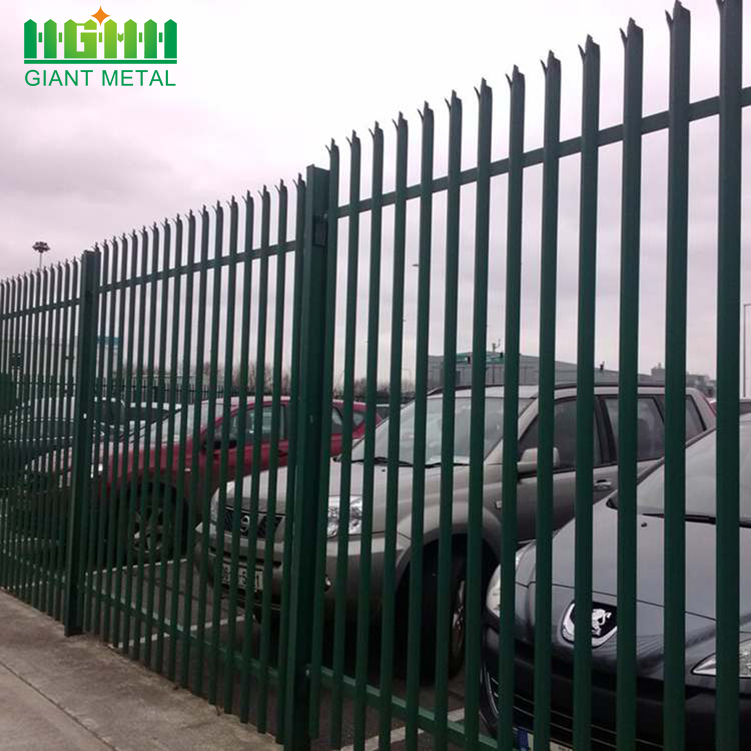 Garden Decorative Steel PVC Coated Palisade Pagar Eropah
