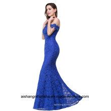 Elegant Crystal Beaded Lace Mermaid Long Evening Dress