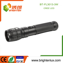Factory Wholesale 3*AAA battery Operated Material Multi-function Portable Aluminum High Power Cree led Focus Light