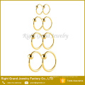 Anneaux de nez de taureau personnalisés par anneau de perle de fermeture de boule d'acier inoxydable adaptés aux besoins du client