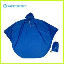 Blue Polyester PVC Motorcycle Rain Poncho