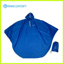 Poncho de chuva de motocicleta de PVC de poliéster azul