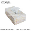 Good Quality River Shell and Resin Tissue Box
