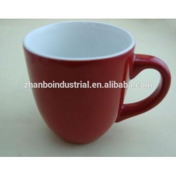 Cerámica de alta calidad de color brillante porcelana cappuccino tazas