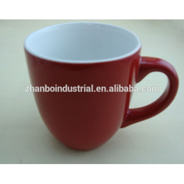 Ceramic high quality bright colored porcelain cappuccino cups