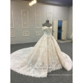 2018 novo vestido de casamento vestido de noiva princesa laço feito sob encomenda na china