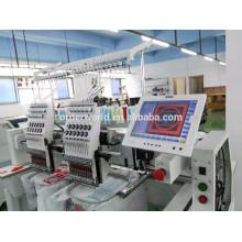 Máquina industrial do bordado das cabeças da máquina 4 do bordado para a camisa do tampão / T