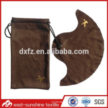 Gold Logo en relieve bolsas de microfibra con paño de limpieza para gafas de sol