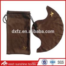 Золотой логотип с тисненой микрофибровой сумкой с чистящей тканью для солнцезащитных очков