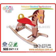 Gran caballo de madera Rocking Kids Ride On Toys