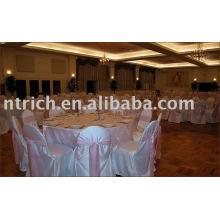 Tampa da cadeira do cetim, capa de cadeira hotel/banquete, capa de cadeira de estilo comum