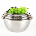 multi functional stainless steel silver round fruit bowl basket