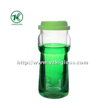 Color Glass Bottle by BV, SGS (7.5*9*19 545ML)