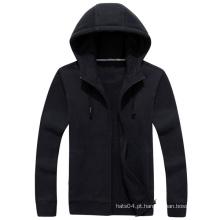 Hoodies pretos lisos feitos sob encomenda 2016 com seu próprio logotipo
