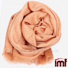 Personalizado de color sólido naranja hecho a mano de lana bufanda bufanda artesanal tejida