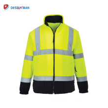 HI VIS ANSI/ISEA Class 3 Safety Full Zip Safety Warm Work Jacket Ourdoor Use with Reflective Tapes