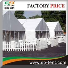 Большой палаточный лагерь для беженцев 18м x 100м с огнезащитной тканью и прочным алюминиевым каркасом.