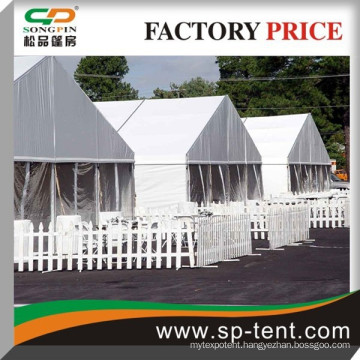Big refugee relief tent 18m x100m with flame retardant fabric and strong aluminum frame indian outdoor tent