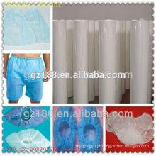 tela não tecida do polipropileno para produtos médicos pano de algodão antibacteriano