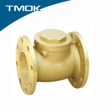 Brass color flange end swing check valve