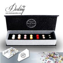 Establecer destino joyas cristales de pendientes de perlas de Swarovski