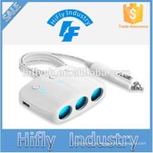 LY-0612 Trending hot products 3 welly y 2 USB socket car cigarette charger (Certificado CE)