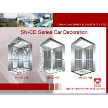Cabina del elevador Marco del St. St con el panel pintado de la iluminación del acrílico (SN-CD-116)
