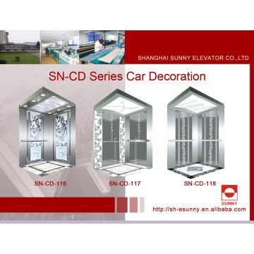 Cabine d'ascenseur St. St Frame avec panneau d'éclairage acrylique peint (SN-CD-116)