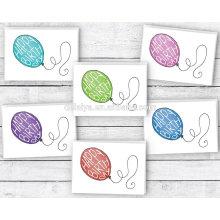 Красочные Воздушные Шары На День Рождения С Днем Рождения Поздравительные Открытки
