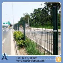 Heißer Verkauf neuer Entwurfsqualitäts starker PVC beschichtete Gartenzaundreieck, der Zaun verbiegt