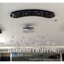 Clear Glass Ceiling lamp, New Lighting Design, with LED Spotlight