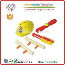 Juguete de madera del bebé educativo, mini aviones