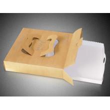 Caja de pizza de encargo de la categoría alimenticia Caja de entrega de pizza de caja de Kraft