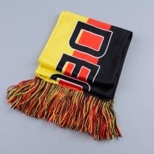 hochwertiger gestrickter deutscher Fußballschal aus Polyester