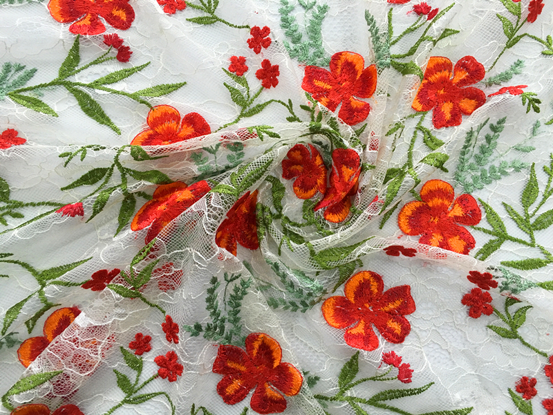 Lace Mesh Embroidery Fabric