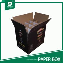 Высокое качество бутылки вина/пива картонная коробка с Разделителями