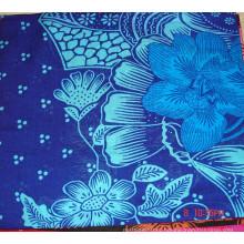 100% spun rayon flower printing fabric 30x30 68x68