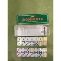 Plastic  Domino In Tin Box