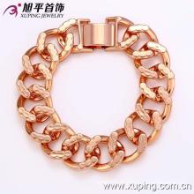 72724 Pulsera de joyería chapada en oro de moda Cool Men en cobre ambiental