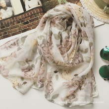 2017 Korean style spring and summer hijab scarf muslim floral print multi style scarf
